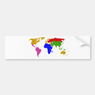 nations grouped car bumper sticker