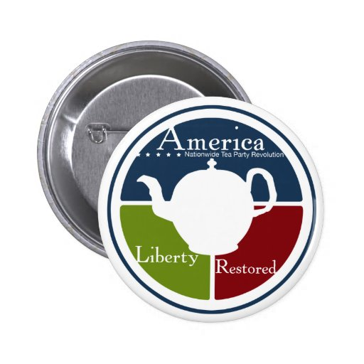 Nationwide Tea Party Revolution Button