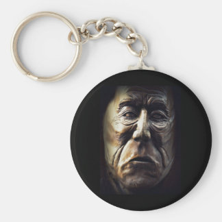 Native Aboriginal Woman Wood Carving Keychain