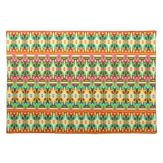 Native African Geometric Abstract Art Pattern Placemats