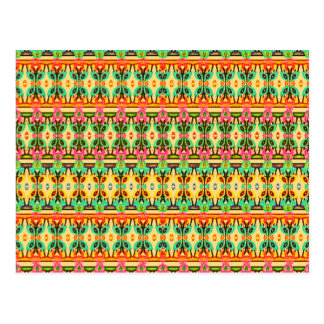 Native African Geometric Abstract Art Pattern Postcard