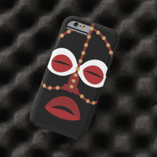 Native African Indian Face Mask Tough iPhone 6 Case