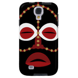 Native African Indian Face Mask Galaxy S4 Case