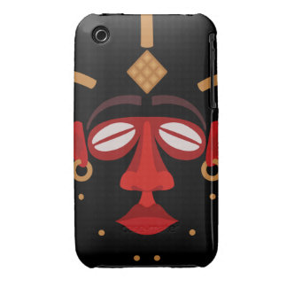 Native African Indian Face Mask iPhone 3 Cover