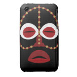 Native African Indian Face Mask iPhone 3 Covers