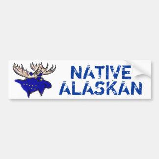 Native Alaskan artistic state flag bumpersticker Bumper Sticker