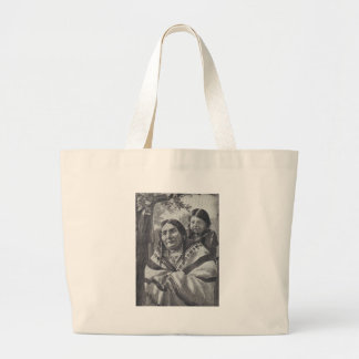 Native Amercan Woman And Child Canvas Bag