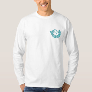Native Amercian Spinning Lizard Design 1 Embroidered Long Sleeve T-Shirt