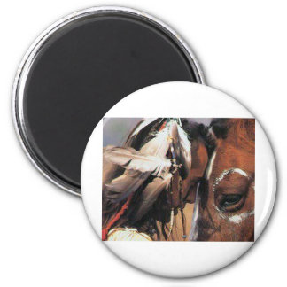 NATIVE AMERICAN 2 INCH ROUND MAGNET
