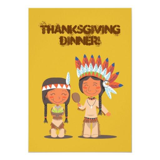Native American 5x7 Paper Invitation Card