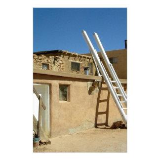 Native American Adobe Housing Southwest U.S. Stationery