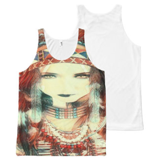 native american All-Over-Print tank top