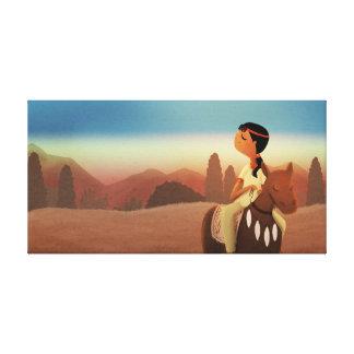 "Native American Art Medium ""Horse with no name"" Canvas Print"