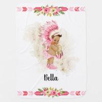 Native American Baby Girl Nursery Blanket Personal