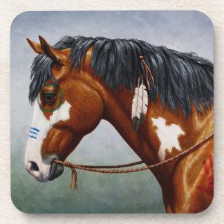 Native American Bay Pinto War Horse Beverage Coaster