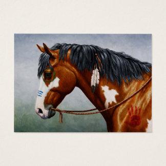 Native American Bay Pinto War Horse Business Card