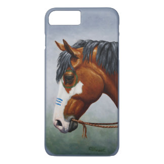 Native American Bay Pinto War Horse iPhone 8 Plus/7 Plus Case