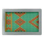 Native American Bead Pattern Belt Buckles