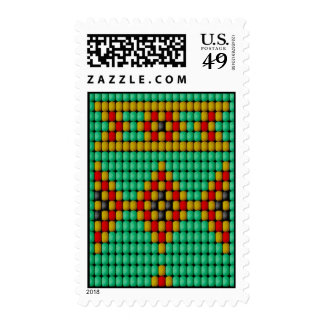 Native American Bead Pattern Postage Stamps