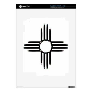Native American beaded Zia Decal For iPad 2