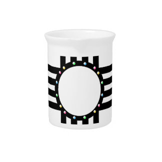Native American beaded Zia Drink Pitchers