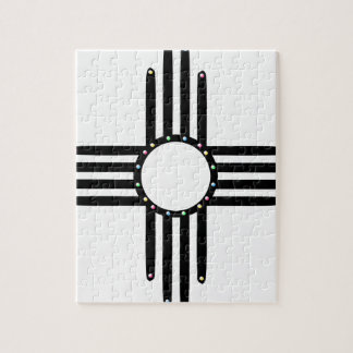 Native American beaded Zia Jigsaw Puzzle