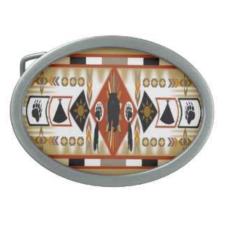 Native American Bear Clan Belt Buckle