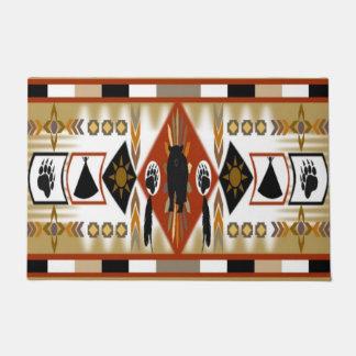 Native American Bear Clan Doormat
