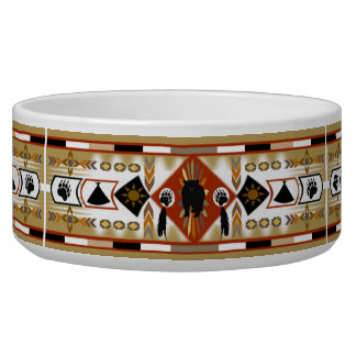 Native American Bear Clan Pet Bowl
