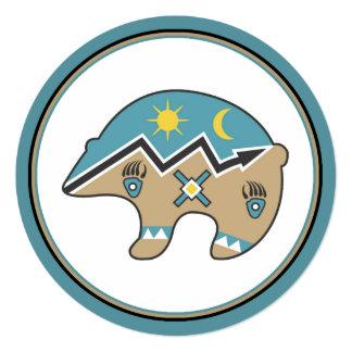 Native American Bear Icon Invitation
