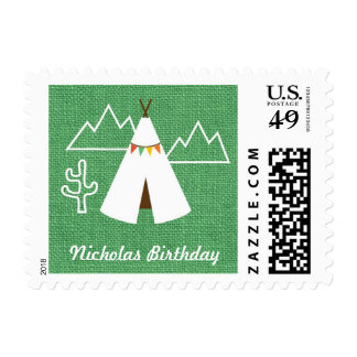 Native American Birthday Party Postage