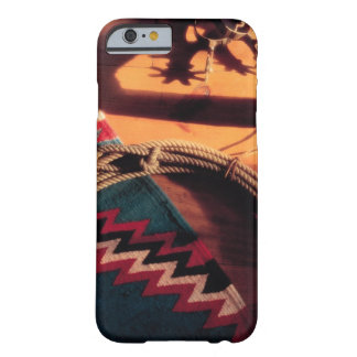 Native American blanket , lasso , and spurs Barely There iPhone 6 Case