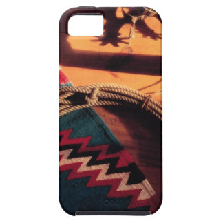 Native American blanket , lasso , and spurs iPhone 5 Case