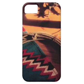 Native American blanket lasso and spurs iPhone 5 Case