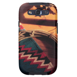 Native American blanket , lasso , and spurs Samsung Galaxy S3 Case
