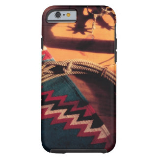 Native American blanket , lasso , and spurs iPhone 6 Case