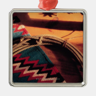 Native American blanket lasso and spurs Ornament