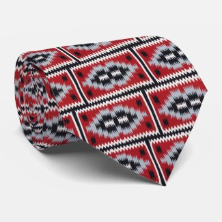 Native American Blanket Two Sided Tie