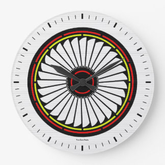 Native American Bloom Large Wall Clock