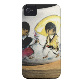 Native American Boy and Girl Navajo Pottery iPhone 4 Case