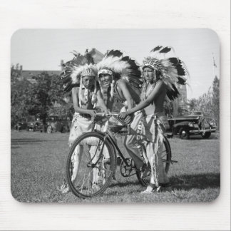 Native American Boys, 1930s Mouse Pad