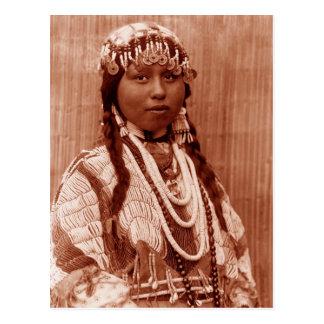 Native American Bride Postcard