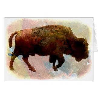 Native American Buffalo All Occasion Card