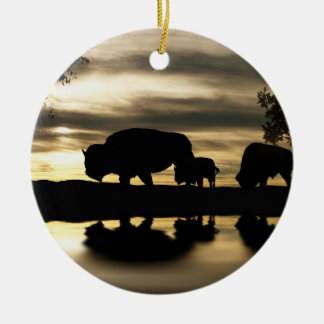 Native American Buffalo Christmas Ornament