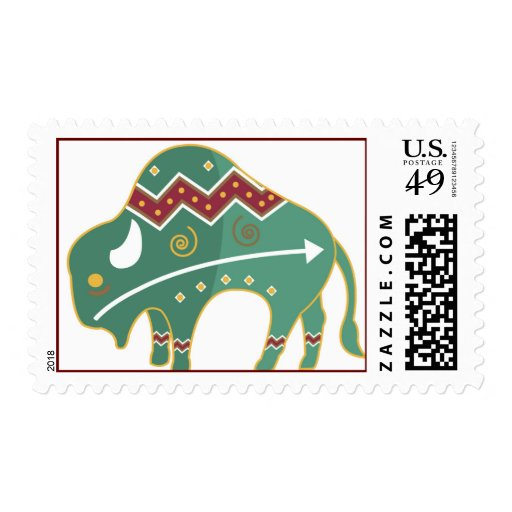 Native American Buffalo Design Postage stamps