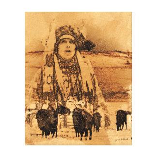 Native American Buffalo Gallery wrapped print
