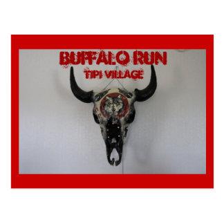 Native American Buffalo Run Tipi Village Postcard