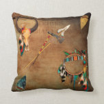 "Native American Buffalo Skull arrowhead Indian Throw Pillow<br><div class=""desc"">Native American Buffalo Skull arrowhead Indian</div>"