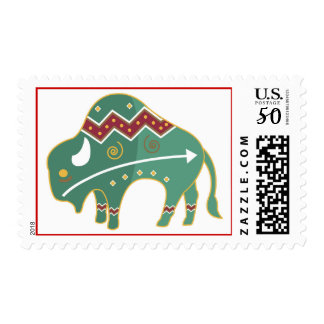 Native American Buffalo Symbol Postage Stamp