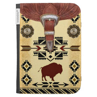 """Native American Buffalo"" Western Kindle Case"